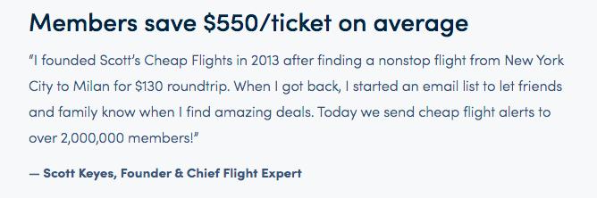 Flight Mistake Fares average savings