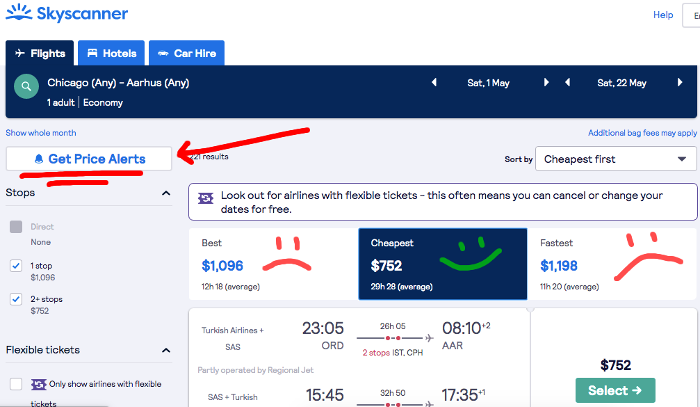 Search for your own Flight Mistake Fares