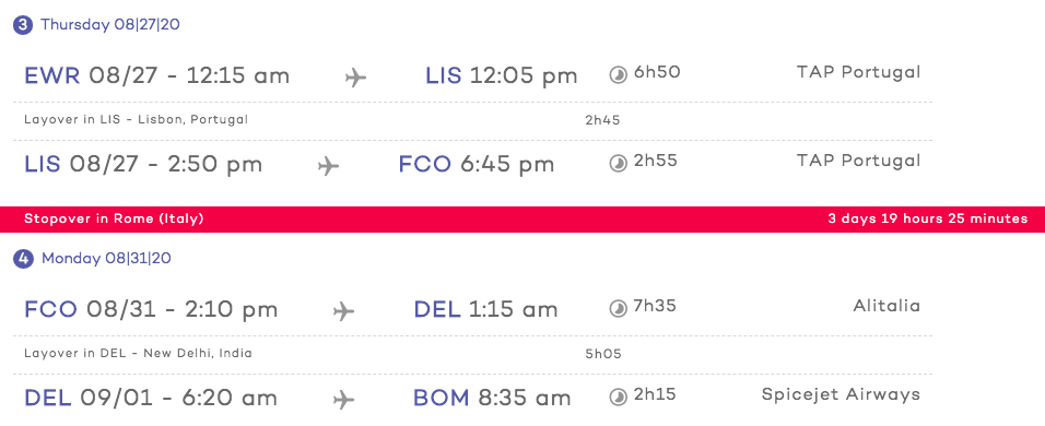 Stopovers with Cheap Flight Tickets Step 6 Review flights 2