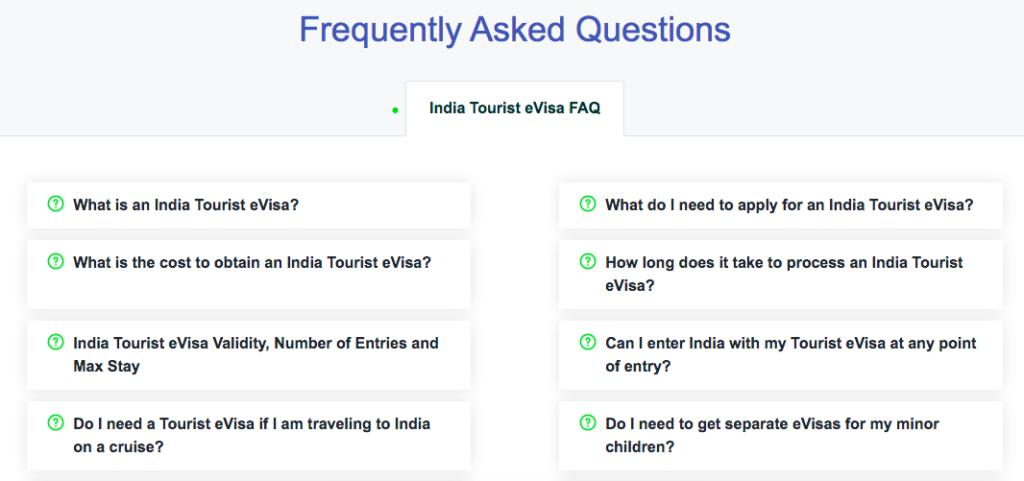 FAQ's for iVisa