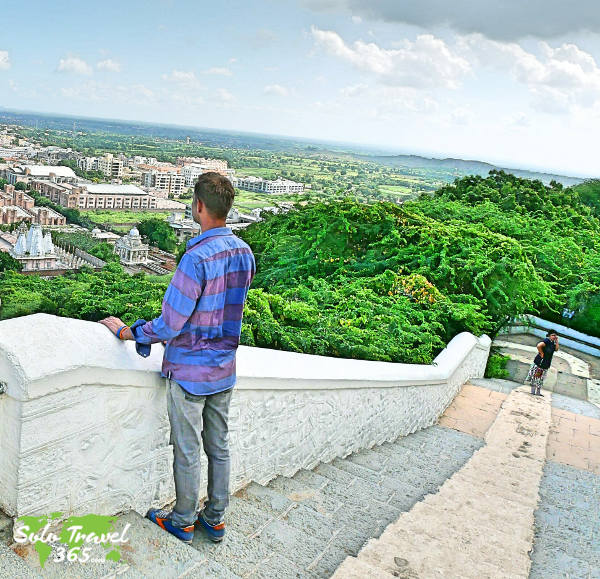 Climbing stairs will help you to stay in shape while solo traveling.