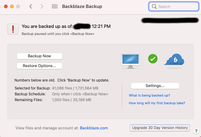 BackBlaze is easy to install and use